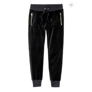 H&M Black Velour Joggers